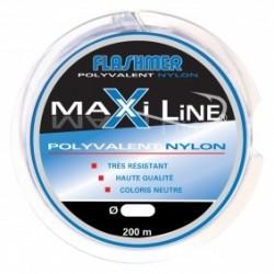 NYLON FLASHMER MAXI-LINE - 25/100 - 200m