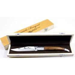 Laguiole bougna Coffret - Couteau géant 18 cm pliant - palissandre