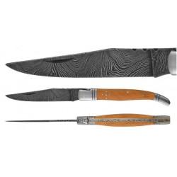 DAMAS - Couteau 10 cm - teck