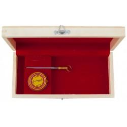 Coffret cadeau en bois fond rouge avec fusil & graisse