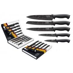 Coffret de 5 couteaux + éplucheur / Lame revêtement damas