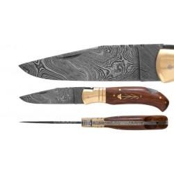 DAMAS - Couteau 11,5 cm - palissandre